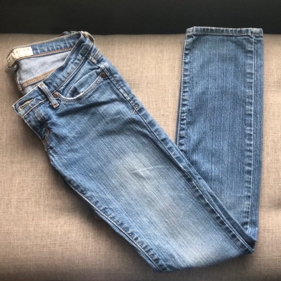 Abercrombie & Fitch Denim - Abercrombie & Fitch Erin Lightly Distressed Jeans